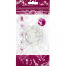 Кабель ZIBELINO DC Fxn USB-USB Lightning (White)