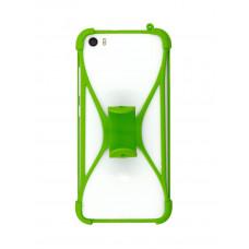 """Бампер ZIBELINO универсальный силиконовый с подставкой 4.7""""-6.5"""" (Green)"""