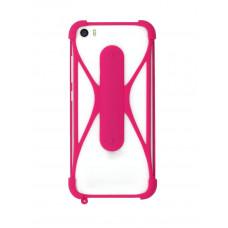 """Бампер ZIBELINO универсальный силиконовый с подставкой 4.7""""-6.5"""" (Pink)"""
