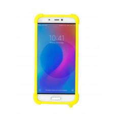 """Бампер ZIBELINO универсальный силиконовый с подставкой 4.7""""-6.5"""" (Yellow)"""